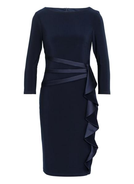 Joseph Ribkoff Kleid mit 3/4-Arm und Volantbesatz, Farbe: DUNKELBLAU (Bild 1)