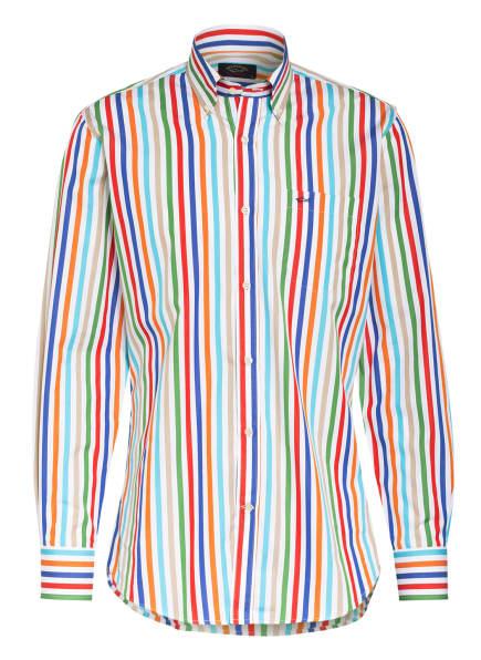 PAUL & SHARK Hemd Regular Fit, Farbe: WEISS/ GRÜN/ ROT (Bild 1)