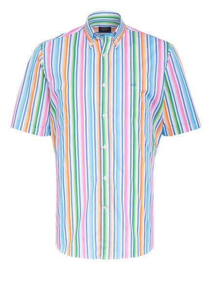 PAUL & SHARK Kurzarm-Hemd Regular Fit, Farbe: WEISS/ BLAU/ HELLGRÜN (Bild 1)