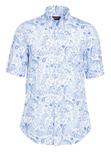 PAUL & SHARK Kurzarm-Hemd aus Leinen , Farbe: WEISS/ BLAU (Bild 1)