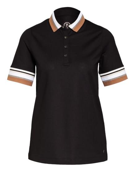 BOGNER Piqué-Poloshirt ZOFIE, Farbe: SCHWARZ/ WEISS/ BEIGE (Bild 1)