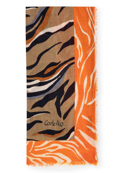 CODELLO Tuch, Farbe: TAUPE/ ORANGE/ SCHWARZ (Bild 1)