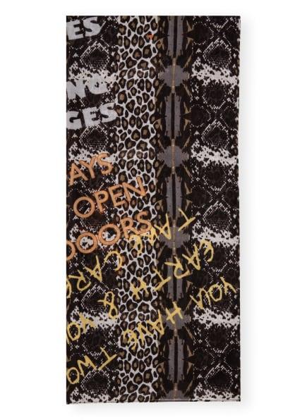 CODELLO Schal, Farbe: SCHWARZ/ ORANGE/ WEISS (Bild 1)