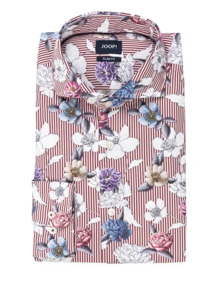JOOP! Hemd PEJOS Slim Fit, Farbe: DUNKELROT/ WEISS/ DUNKELLILA (Bild 1)