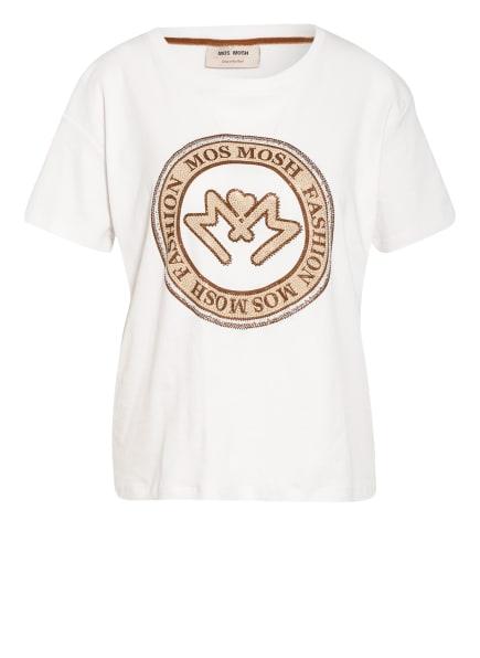 MOS MOSH T-Shirt LEAH mit Schmucksteinbesatz, Farbe: ECRU (Bild 1)