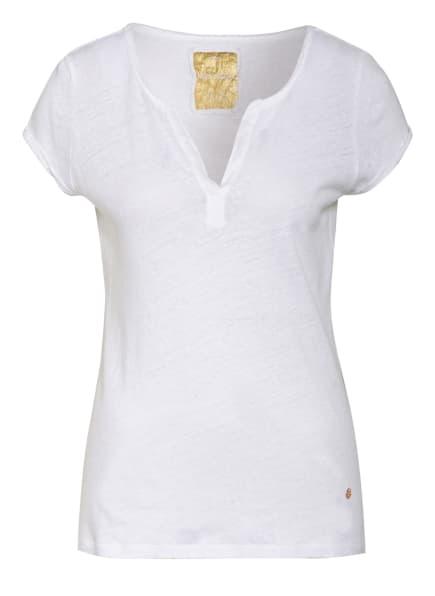 MOS MOSH T-Shirt TROY mit Leinen, Farbe: WEISS (Bild 1)