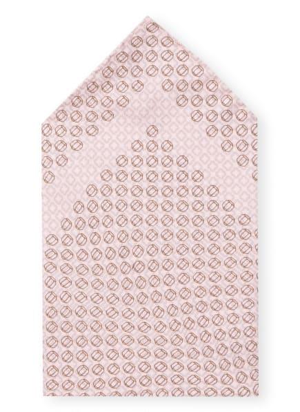 EDUARD DRESSLER Einstecktuch, Farbe: HELLROSA/ DUNKELBRAUN (Bild 1)