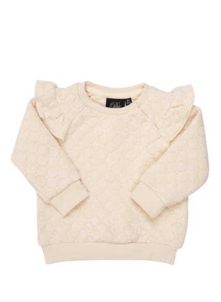 PETIT BY SOFIE SCHNOOR Sweatshirt mit Glitzergarn, Farbe: CREME/ GOLD (Bild 1)