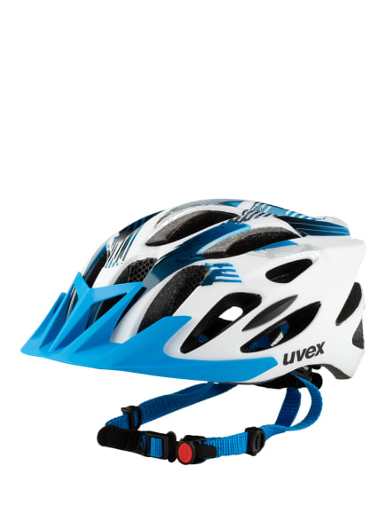 uvex Fahrradhelm FLASH, Farbe: WEISS/ NEONBLAU (Bild 1)
