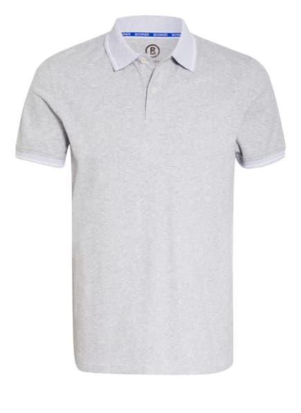 BOGNER Jersey-Poloshirt LIGOS, Farbe: HELLGRAU/ WEISS (Bild 1)