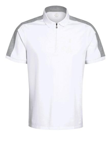 BOGNER Piqué-Poloshirt AVON, Farbe: WEISS/ HELLGRAU (Bild 1)