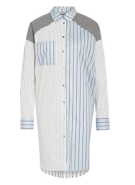 summum woman Hemdblusenkleid, Farbe: HELLBLAU/ DUNKELBLAU/ WEISS (Bild 1)