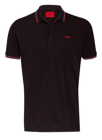 HUGO Piqué-Poloshirt DINOSO Slim Ft, Farbe: SCHWARZ (Bild 1)