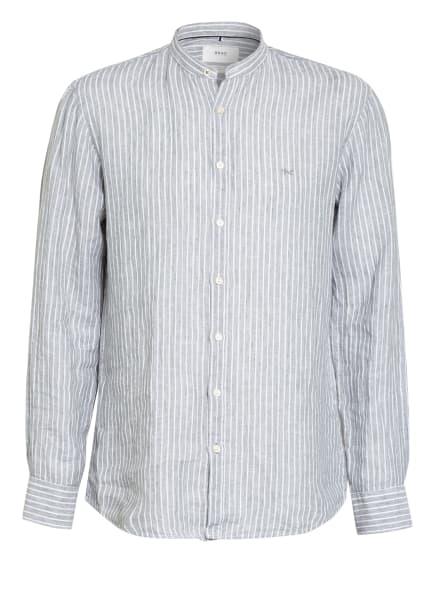 BRAX Leinenhemd LARS Modern Fit mit Stehkragen, Farbe: WEISS/ HELLGRÜN (Bild 1)