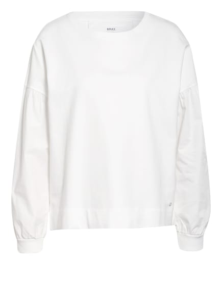 BRAX Pullover BO im Materialmix, Farbe: WEISS (Bild 1)