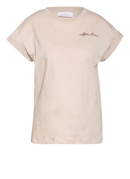 rich&royal T-Shirt mit Schmucksteinbesatz , Farbe: HELLBRAUN (Bild 1)