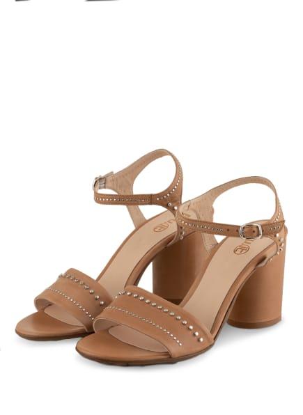 Fru.it Sandaletten mit Nietenbesatz , Farbe: BEIGE (Bild 1)