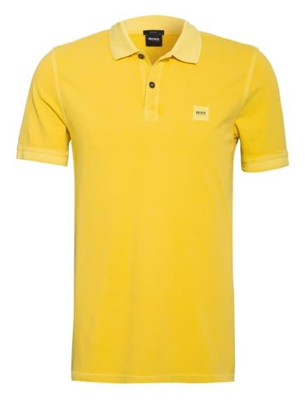 BOSS Piqué-Poloshirt PRIME Slim Fit, Farbe: GELB (Bild 1)