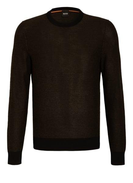 BOSS Pullover KAMARSOS, Farbe: SCHWARZ/ OLIV (Bild 1)