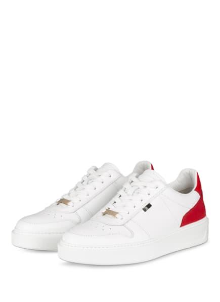 WOOLRICH Plateau-Sneaker, Farbe: WEISS/ ROT (Bild 1)