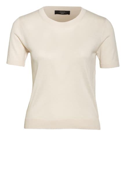 WEEKEND MaxMara Strickshirt GARIBO mit Seide und Leinen, Farbe: CREME (Bild 1)