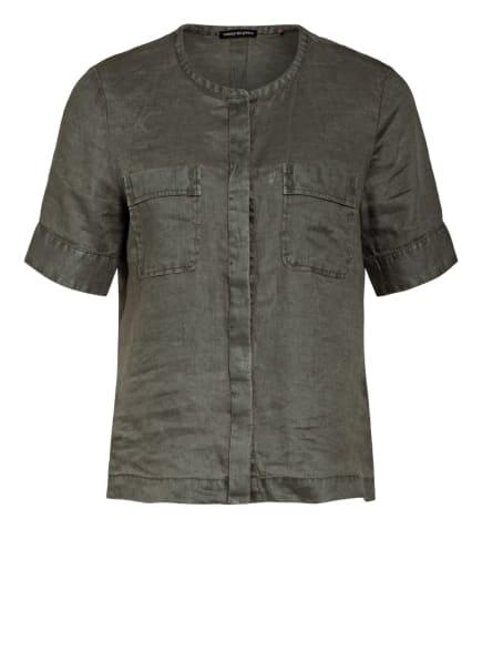 twenty six peers Blusenshirt aus Leinen, Farbe: OLIV (Bild 1)