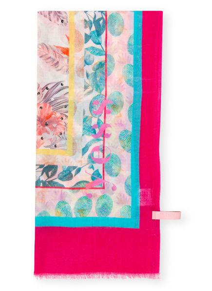 yess Schal ISABEAU mit Paillettenbesatz, Farbe: PINK/ HELLROT/ TÜRKIS (Bild 1)