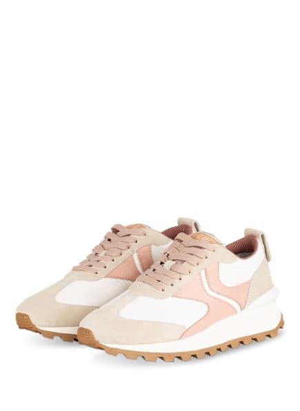 VOILE BLANCHE Plateau-Sneaker QWARK, Farbe: WEISS/ HELLROT/ CREME (Bild 1)