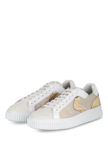 VOILE BLANCHE Plateau-Sneaker LIPARI, Farbe: WEISS/ GOLD (Bild 1)