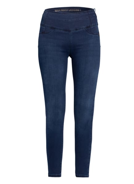 PATRIZIA PEPE Skinny Jeans , Farbe: C873  WASHED DARK BLUE (Bild 1)