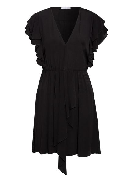PATRIZIA PEPE Kleid mit Volantbesatz, Farbe: SCHWARZ (Bild 1)