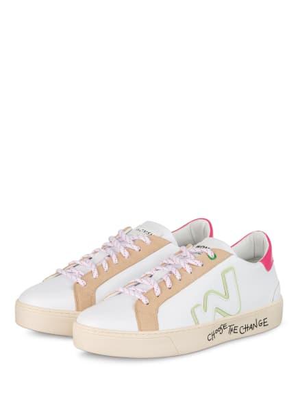 WOMSH Sneaker SNIK, Farbe: WEISS/ CAMEL/ PINK (Bild 1)