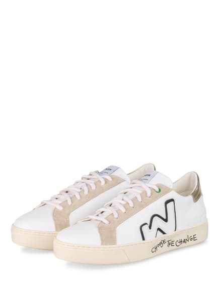 WOMSH Sneaker SNIK, Farbe: WEISS/ GOLD/ NUDE (Bild 1)