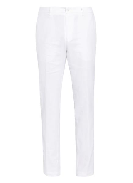 BOSS Chino STANINO Slim Fit mit Leinen, Farbe: WEISS (Bild 1)