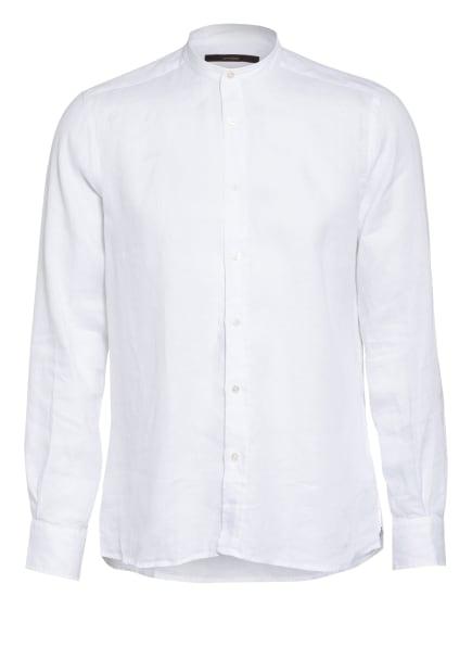 windsor. Leinenhemd LENO Slim Fit mit Stehkragen, Farbe: WEISS (Bild 1)