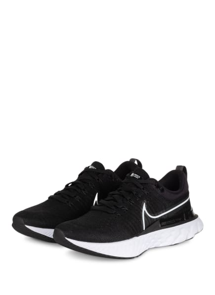 Nike Laufschuhe REACT INFINITY RUN FLYKNIT 2, Farbe: SCHWARZ/ WEISS (Bild 1)