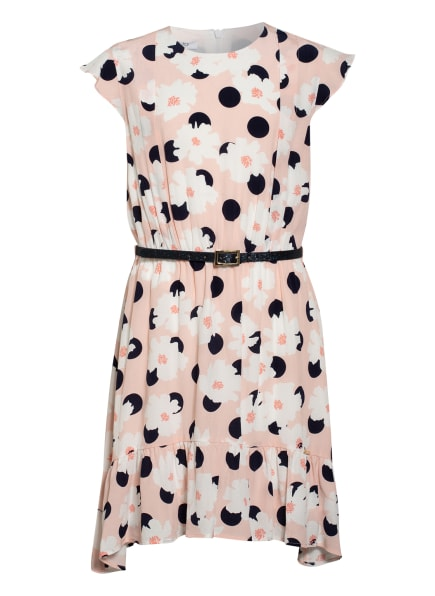 LIU JO Kleid mit Rüschenbesatz, Farbe: HELLROSA/ DUNKELBLAU/ WEISS (Bild 1)