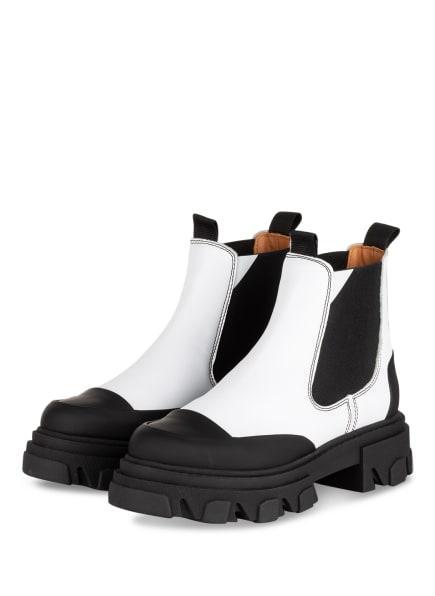 GANNI Chelsea-Boots, Farbe: WEISS/ SCHWARZ (Bild 1)