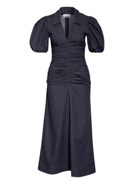 GANNI Kleid , Farbe: BLAUGRAU/ HELLBRAUN (Bild 1)