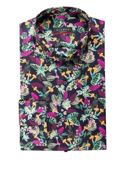 ETERNA Hemd Modern Fit, Farbe: SCHWARZ/ GRÜN/ LILA (Bild 1)