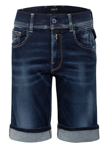 REPLAY Jeans-Shorts Super Slim Fit, Farbe: BLAU (Bild 1)