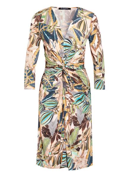 ILSE JACOBSEN Kleid mit 3/4-Arm in Wickeloptik, Farbe: LACHS/ GRÜN/ TÜRKIS (Bild 1)