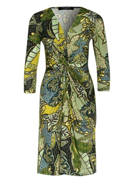 ILSE JACOBSEN Kleid in Wickeloptik mit 3/4-Arm, Farbe: GRÜN/ HELLGRÜN/ GELB (Bild 1)