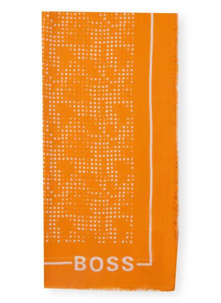 BOSS Schal LOGONIA, Farbe: WEISS/ ORANGE (Bild 1)
