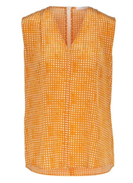 BOSS Blusentop LEMILYNE aus Seide, Farbe: ORANGE/ CREME/ GELB (Bild 1)