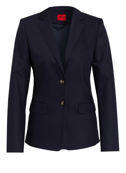 HUGO Piqué-Blazer THE LONG JACKET-2, Farbe: DUNKELBLAU (Bild 1)