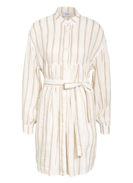 Dondup Kleid mit Leinen , Farbe: ECRU/ BRAUN (Bild 1)