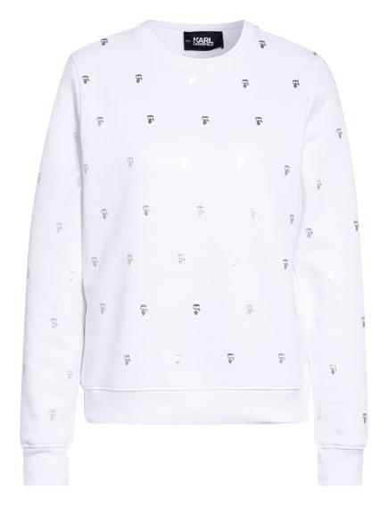 KARL LAGERFELD Sweatshirt IKONIK, Farbe: WEISS/ SILBER (Bild 1)