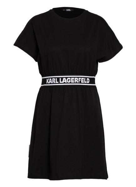 KARL LAGERFELD Jerseykleid, Farbe: SCHWARZ/ WEISS (Bild 1)