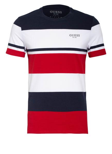 GUESS T-Shirt, Farbe: DUNKELBLAU/ WEISS/ ROT (Bild 1)